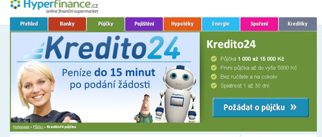 Kredito24 půjčka